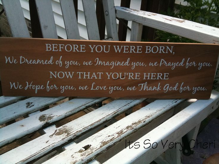 Before You Were Born... baby gift