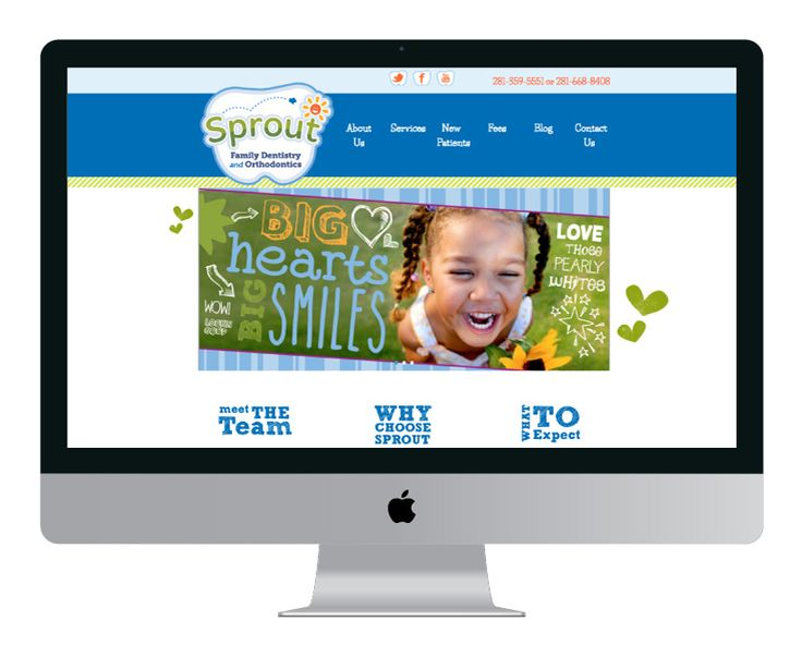 Website design by Essential Website for Sprout Family Dentistry & Orthodontics