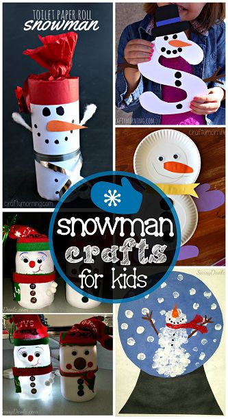 snowman-crafts-for-kids-to-make1.png 333×612 pixels
