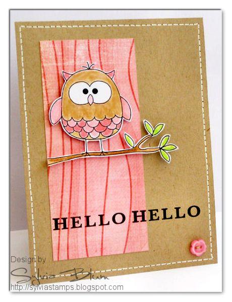 ...{Sylvias Stamping Place}...: Hello Hello