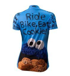 Cookie Monster Women's Cycling Jersey - Back View - FREE Shipping - Get even MORE Brainstorm colorful jerseys at http://www.cyclegarb.com/brainstorm-gear.html