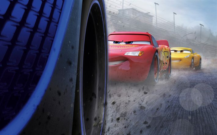 Download wallpapers Cars 3, 2017, Lightning McQueen, Cruz Ramirez