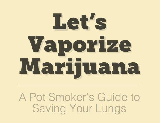 I'm most certainly going to begin making use of a vaporizer rather than burning my herb.