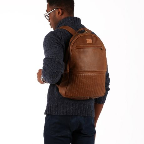 Dark Horse Bourbon Backpack in Monsoon Straw. #backpack #leather #urban #travel #laptop