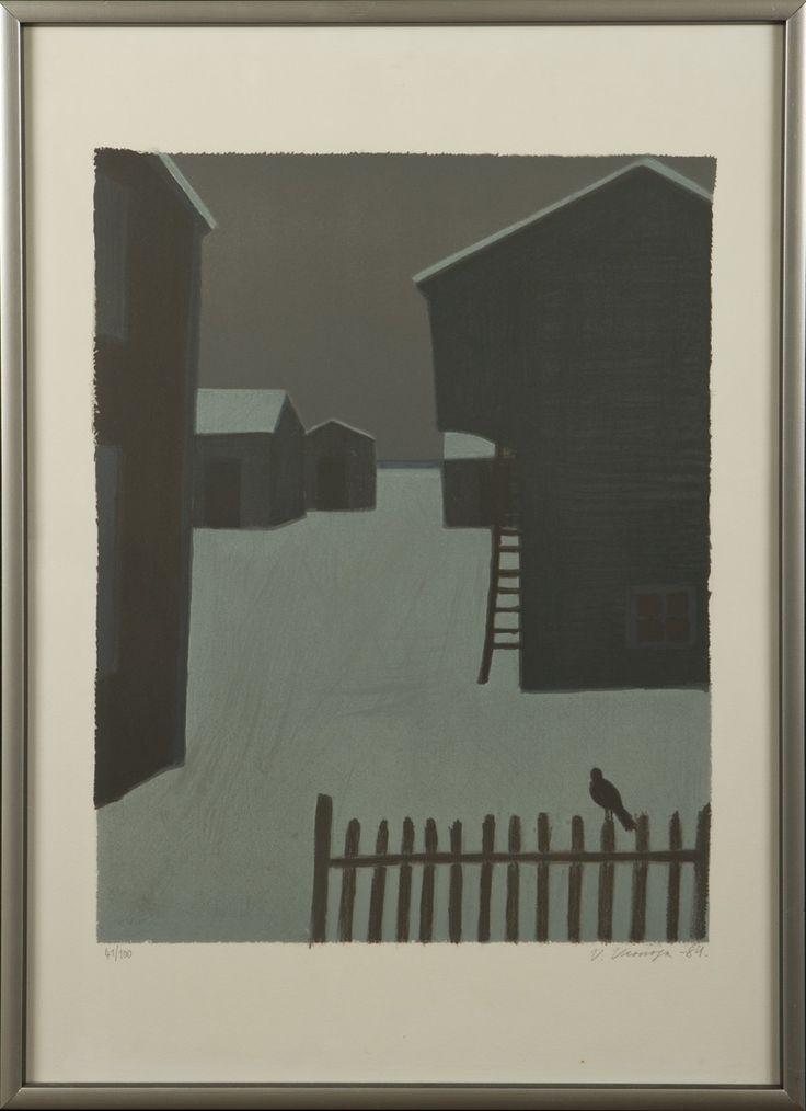 Veikko Vionoja, 1984, litografia, 50x40 cm , edition 61/100 - Hagelstam A129