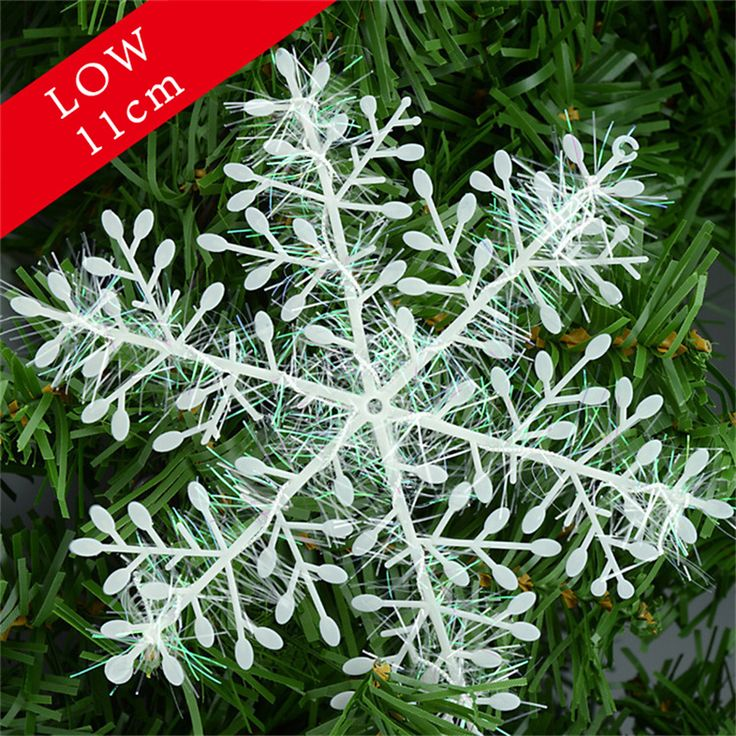 Christmas Ornament 30pcs/1pack White Plastic Christmas Snowflake Christmas Tree Window Christmas Decorations For Xmas Snowflake #clothing,#shoes,#jewelry,#women,#men,#hats,#watches,#belts,#fashion,#style