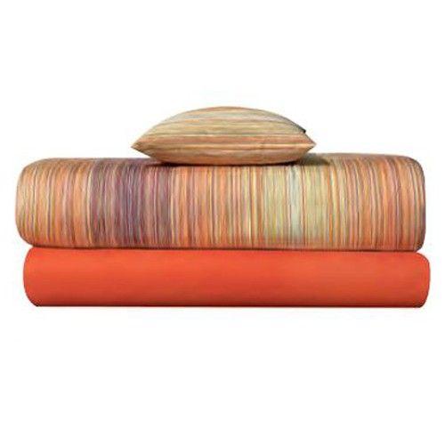 Jill Orange Duvet Cover