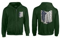 Attack on Titan survey corps green hoodie