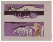 Clifford Ellis Curlew bird Lithograph printed in colours with...