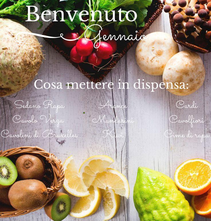 Gennaio è arrivato: cosa mettere in dispensa? Ecco gli #ingredienti di #stagione di #Giallozafferano #winter #gennaio #season  #frutta #verdura