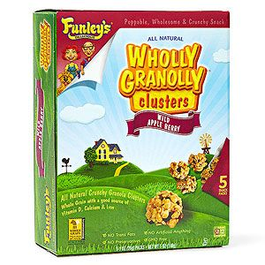 Healthy Packaged Snacks & Sides for the Lunch Box: Funley's Delicious Wholly Granolly Clusters Wild Apple Berry (via Parents.com)