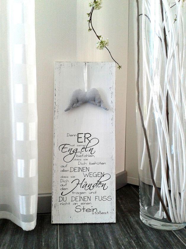 pfeifers holzschild denn er hat seinen engeln geschenke zur konfirmation zur konfirmation. Black Bedroom Furniture Sets. Home Design Ideas