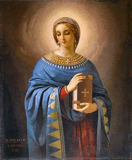 After the death of Publius, Saint Anastasia was able to continue her mission, and consoled imprisoned Christians. Description from youngcatholicmums.com. I searched for this on bing.com/images