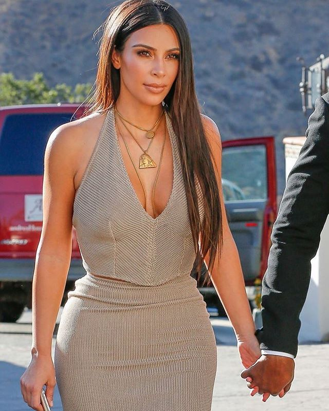 Kim attending a wedding in CA @kimkardashian