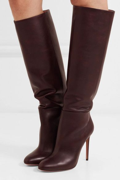 739bf507979 Aquazzura - Brera 105 leather knee boots in 2019