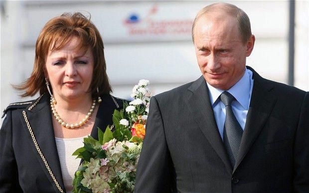 Russian President Vladimir Putin and his ex-wife Lyudmila Putina