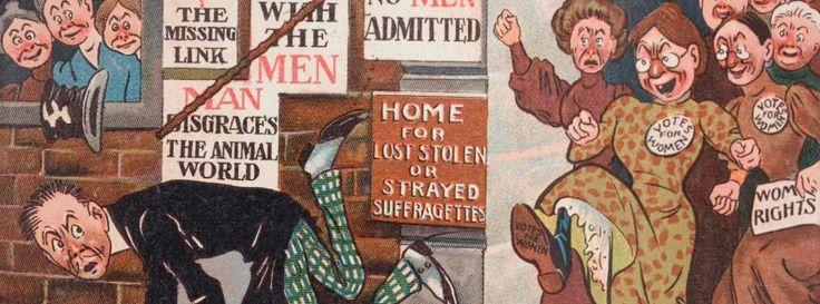 Anti-Suffragetten-Cartoons: Monster mit Mausphobie