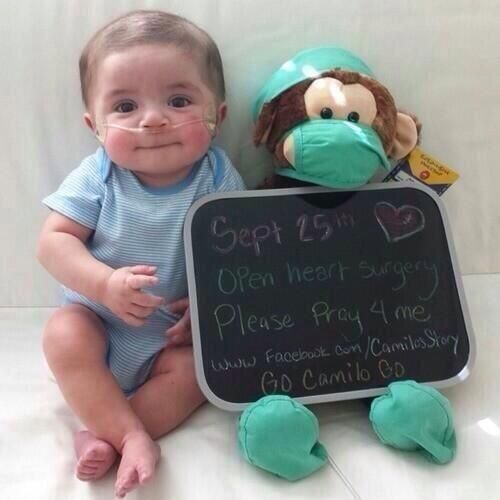 Pray for this little baby. :(