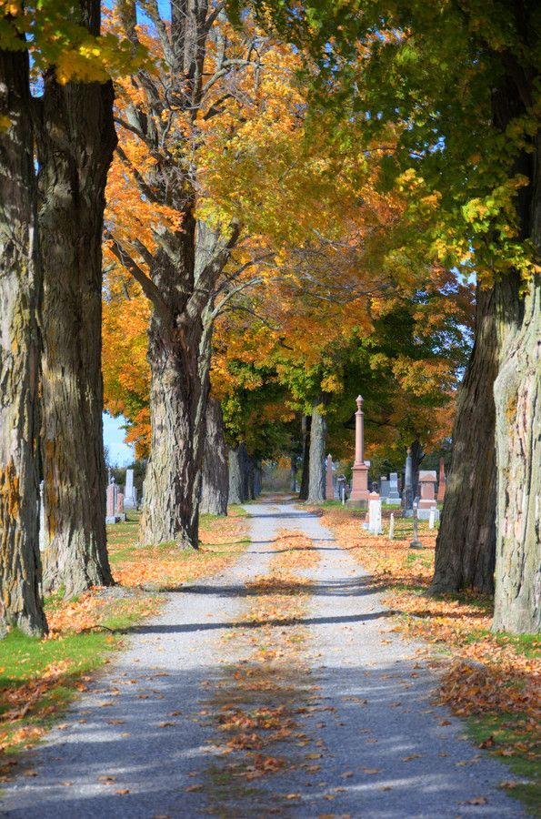 Cemetery in the fall by Wayne Smith on 500px