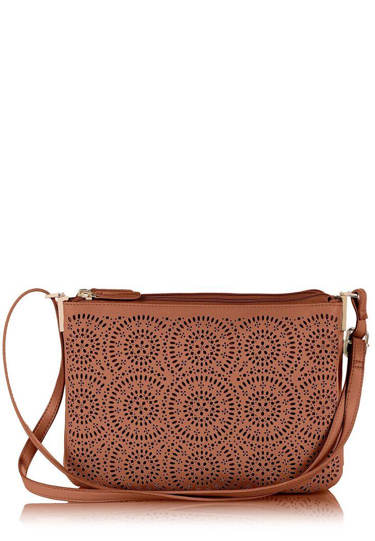 Perforated Wheel Cross-Body Handbags Cato Fashions