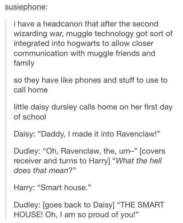 This adorable thing most definitely happened. | 23 Things That Definitely Happened In The Harry Potter Universe