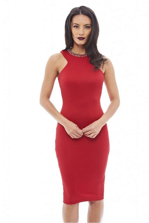 AX Paris Embellished Neckline Bodycon Dress 6
