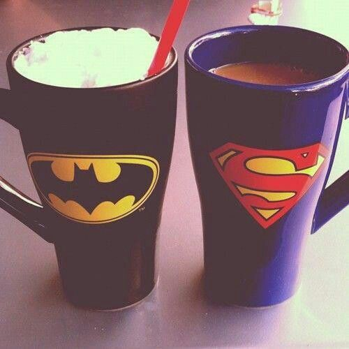 Mugs Cute Superman Batman Couple Random Tumblr