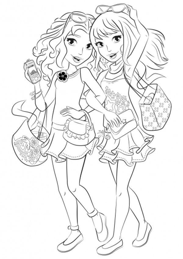 Lego Friends Shopping Coloring Page In 2020 Lego Coloring Pages Cute Coloring Pages Coloring Pages