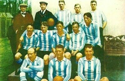 Argentina team group in 1908.