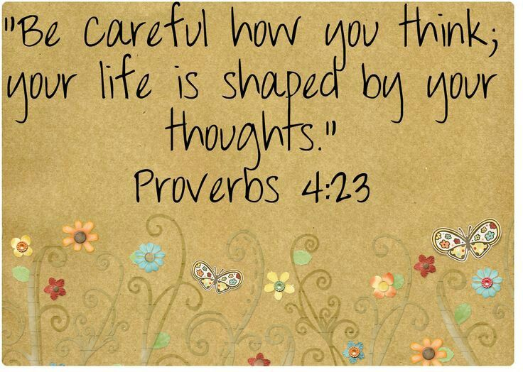 """Be careful what you think, because your thoughts run your life."" (Proverbs 4:23) I knew they were there, but I tried to ignore them and deny their existence ….. They controlled h…"