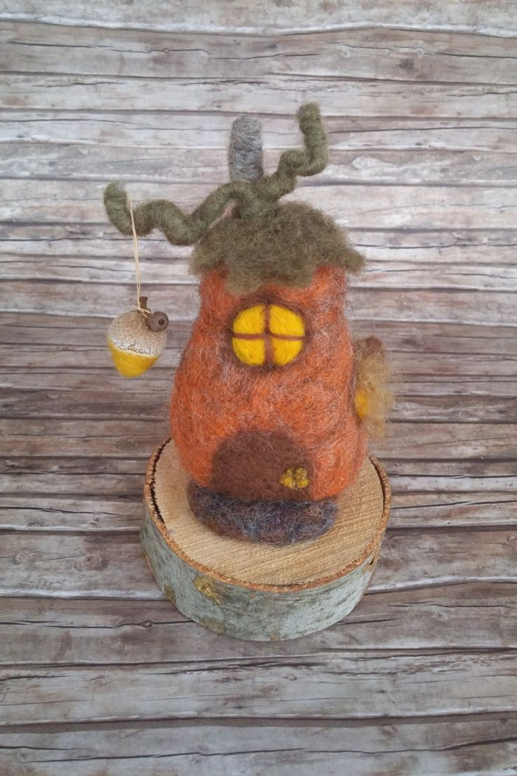 Pumpkin fairy house by HappyFeltingHour on Etsy