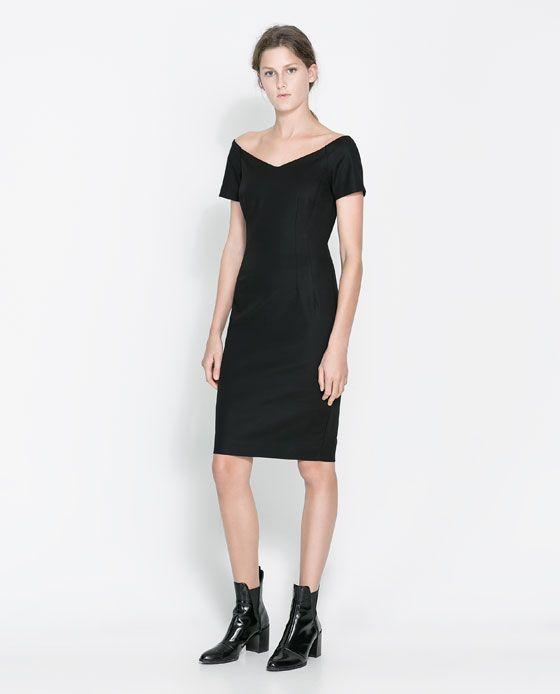 Image 1 of V-NECK DRESS from Zara