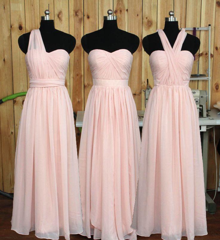 Convertible Blush Bridesmaid dress Wedding Party by Dressesall4you