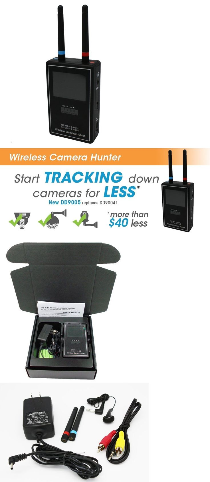 Surveillance Gadgets: Wireless Spy Camera Hunter Rf Bug Detector Video Cam Scanner/Viewer Pal Ntsc BUY IT NOW ONLY: $399.0