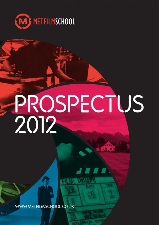 Met Film School prospectus 2012 by The Church of London. The cover reminds me of the famous 007 sequence and that suits well to the college as it is a film school.