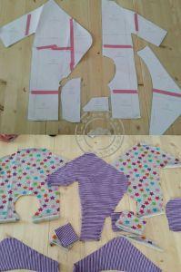 Baby Strampler / Baby Jumper Freebook
