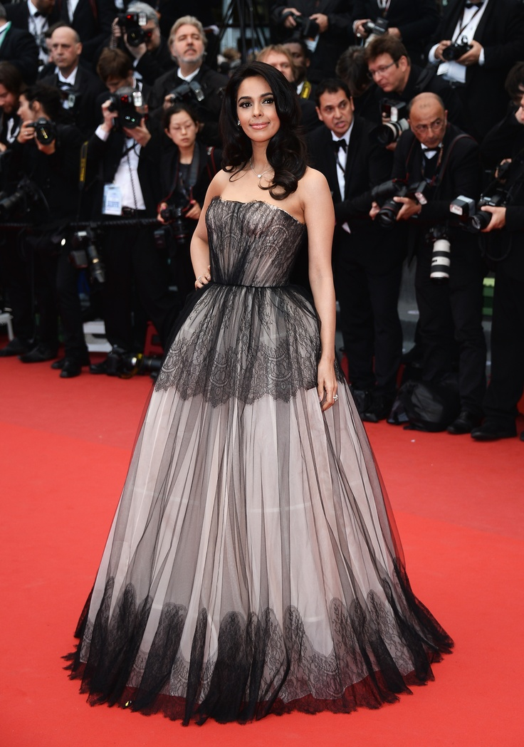 Malika Sherawat in #dolcegabbana gown to the Premiere of 'Inside Llewyn Davis' during the 66th Annual Cannes Film Festival #Cannes2013