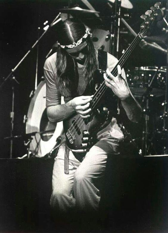 Jaco Pastorius on stage with Weather Report