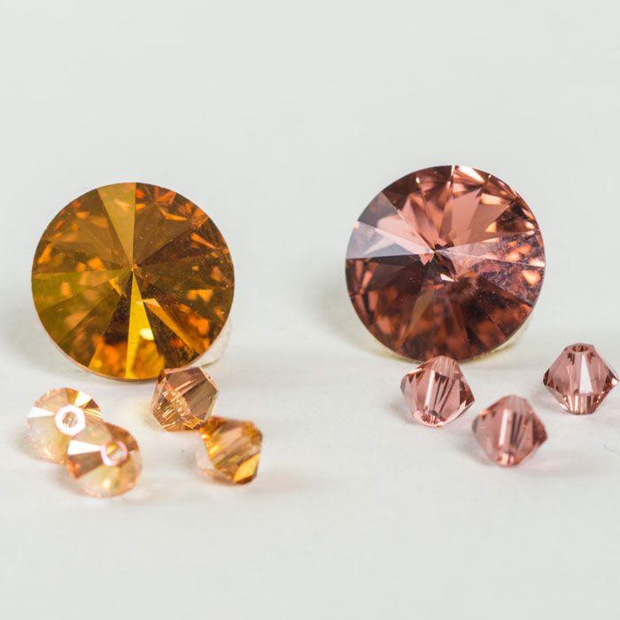 Die neuen Farben von Swarovski Elements: Blush Rose und Metallic Sunshine neu im Glücksfieber Shop!