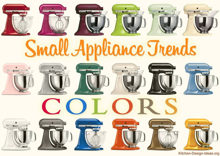 Kitchen, 2014 Kitchen Appliance Trends Colors And Design: Various Small Appliance  Trends Colors Modern Kitchen Mixers
