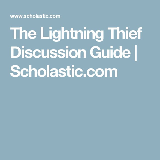 The Lightning Thief Discussion Guide | Scholastic.com