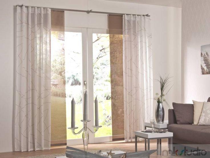 #curtains #cream #brown #brązowy #brąz #wnętrze #salon #dekoracje #dekoracjeokien #interior #wnetrza #zasłony #firany #okno #okna #panele http://www.mkstudio.waw.pl/systemy-wewnetrzne/panele/