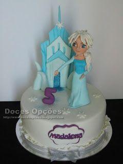 Doces Opções: A princesa Elsa no 5º aniversário da Madalena