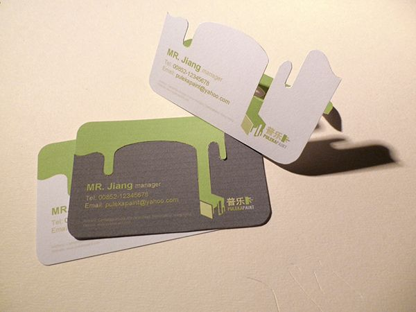 Best Die Cut Business Cards Images On Pinterest Business Card - 3d business card template