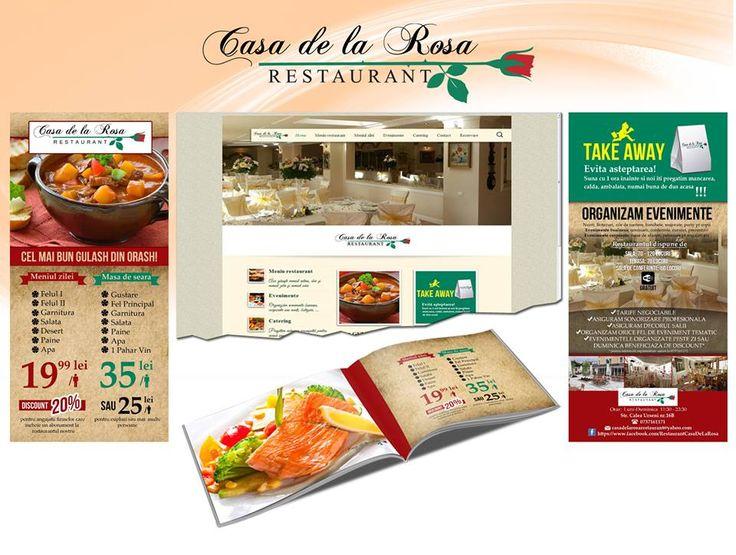 Site web, flyere, brosura Casa de la Rosa by powerimage.ro