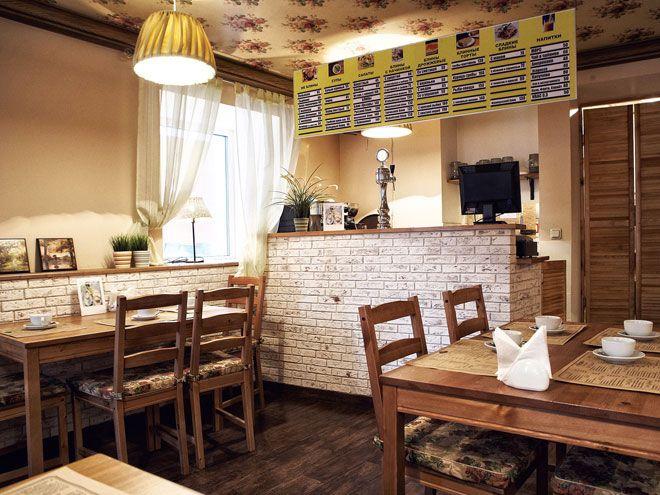 Дизайн интерьера блинной (кафе) на Гороховой ул.