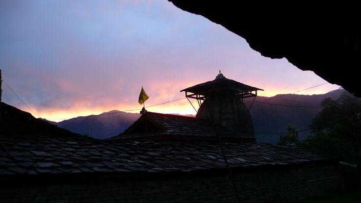 Sunset at the Krishna Temple, Naggar, near Manali, India