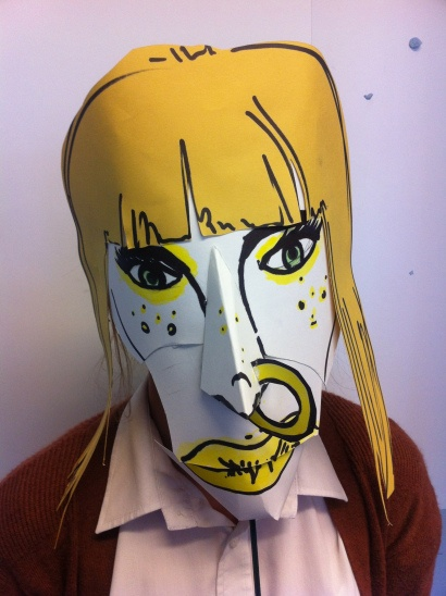 A blog of High School Art projects. project making masks of famous characters from paintings. Art History.