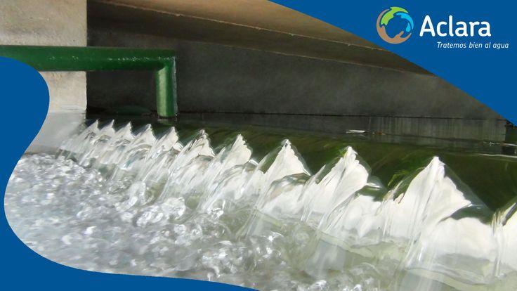 ¡Salida de agua tratada por una planta STD Aclara!