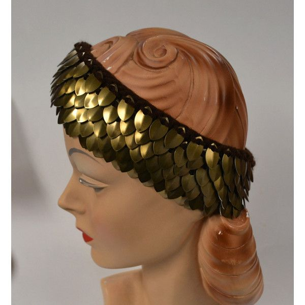 Scalemail Headband of knitted Dragonhide Armor Bronze Age Warrior ($40) ❤ liked on Polyvore featuring accessories, hair accessories, stretchy headbands, head wrap headbands, head wrap hair accessories, stretch headbands and hair band headband